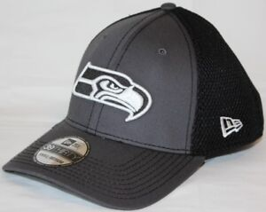 daea3b01f Seattle Seahawks New Era NFL 39THIRTY Gray   Black Neo Flex Fit Hat ...