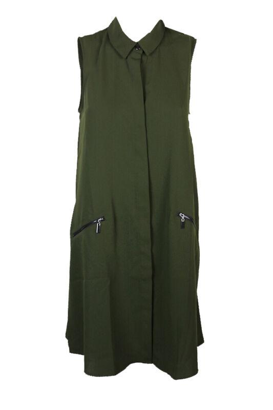 Alfani Grün Ärmellos Reißverschlusstasche A-linie Hemd Kleid 4 Buy One Give One