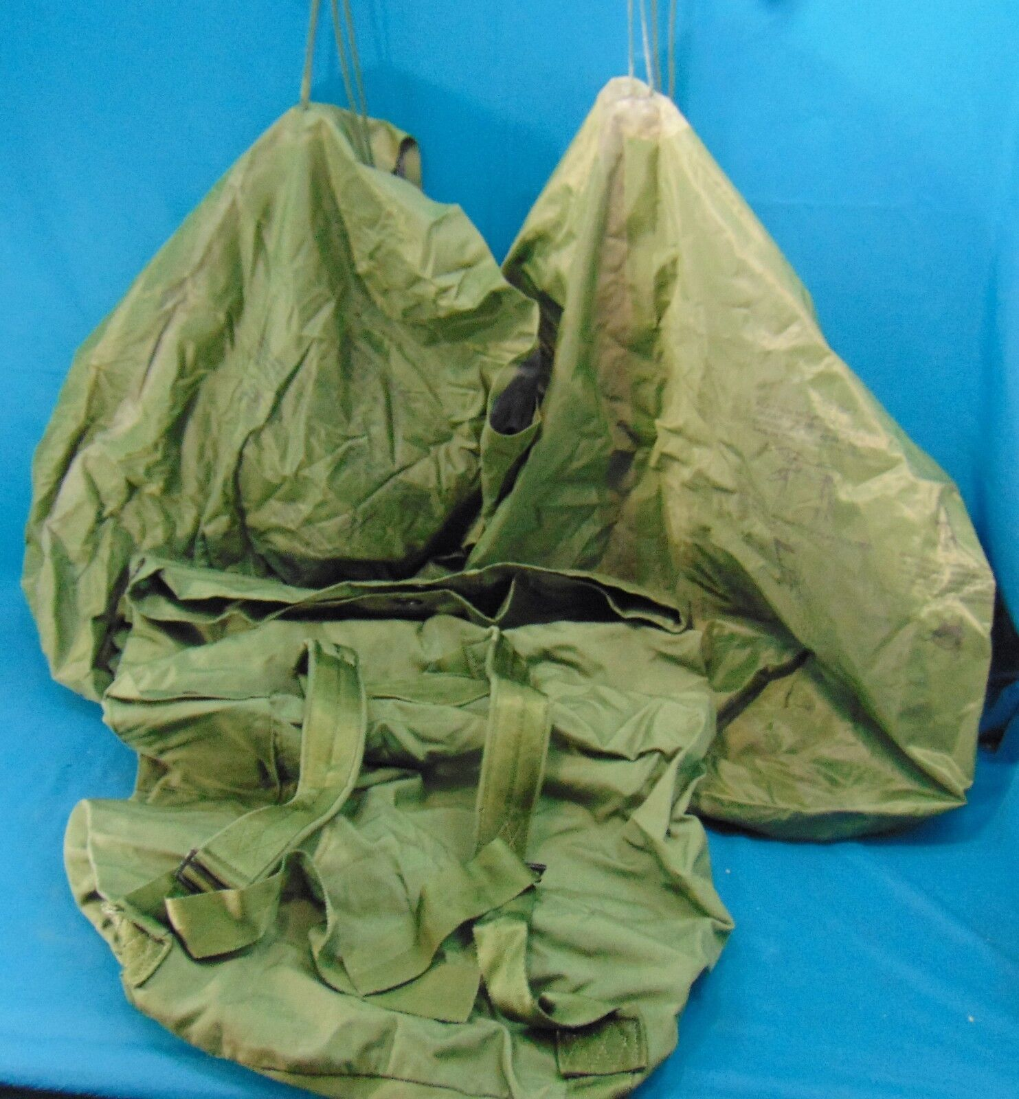 Lot of 3 Military Issue Bags, Duffle and 2 Large Waterproof
