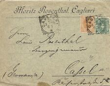 P8574   Cagliari, annullo tondo riquadrato, lettera per la svizzera, 1896