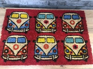 Retro-VW-CamperVan-design-style-Doormat-RED-New-With-Tags-Gift