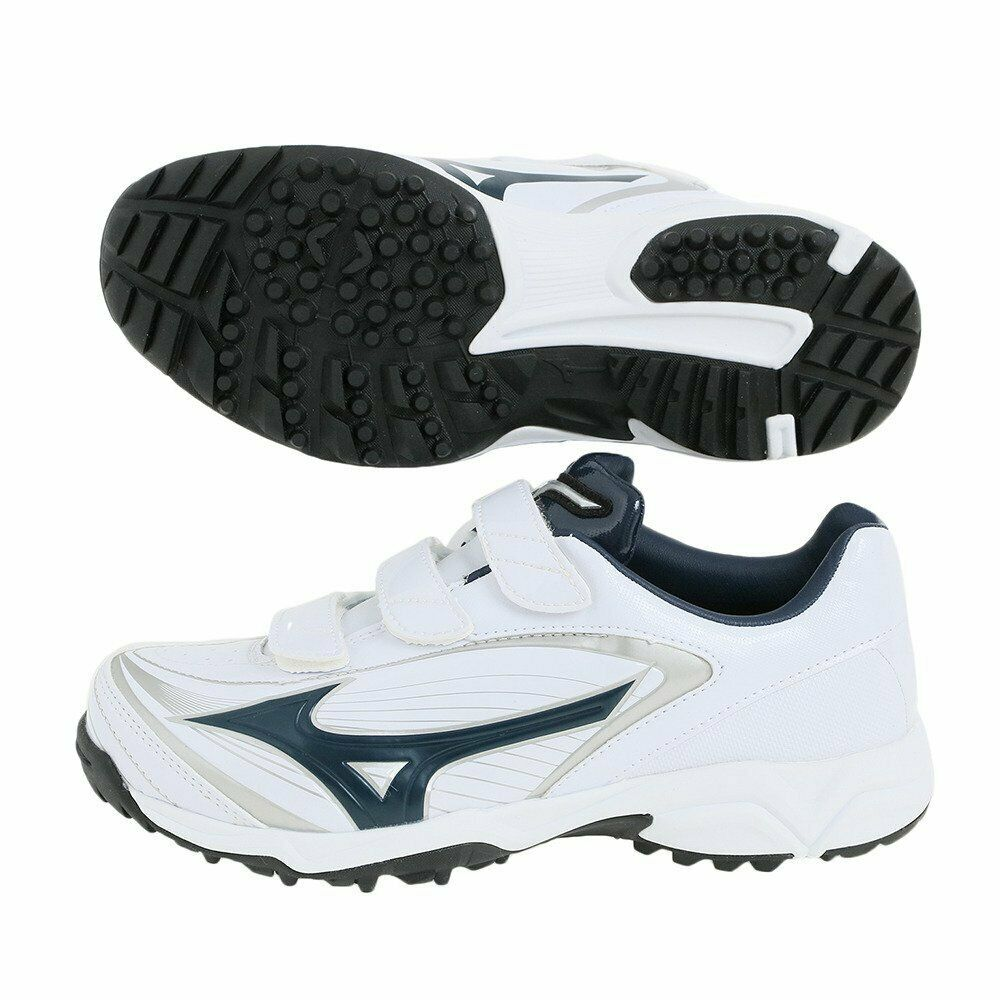 MIZUNO Baseball shoes Select Nine Trainer CR 11GT1722 White Navy US10(28cm)
