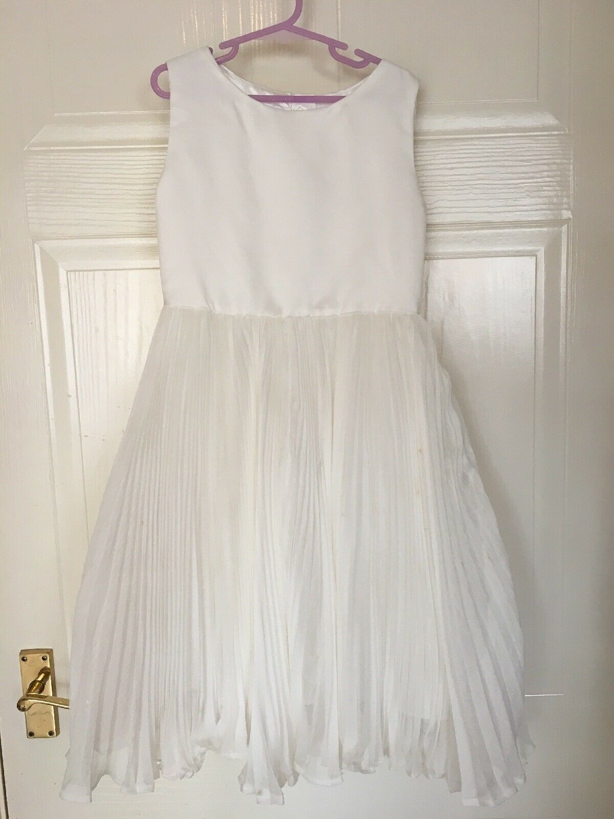 Monsoon Ivory Bridesmaid Dress,Age 10,Used Once,Has A Few Marks On