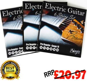 3 sets of adagio electric guitar strings gauge 10 46 free chord scale chart ebay. Black Bedroom Furniture Sets. Home Design Ideas