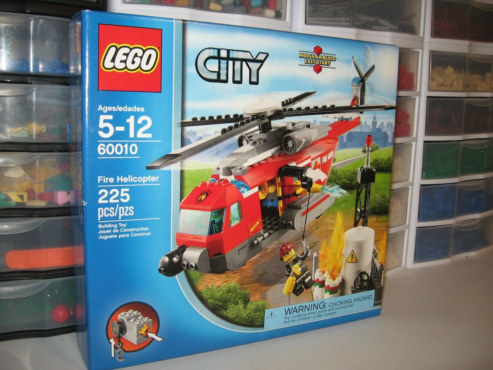 LEGO CITY  FIRE HELICOPTER      60010   NEW IN BOX