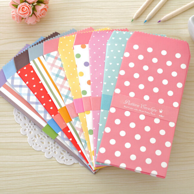 5Pcs/1Pack Colorful Envelope Small Gift Craft Envelopes for Letter Invitation Pg