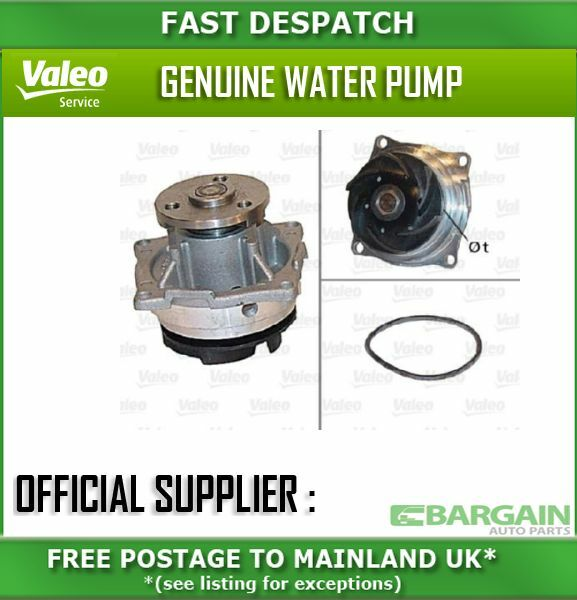 506604 1195 VALEO WATER PUMP FOR FORD FOCUS 1.8 2000-2002