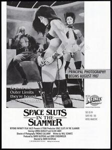 SPACE-SLUTS-in-the-SLAMMER-Original-1987-Trade-print-AD-promo-LINNEA-QUIGLEY