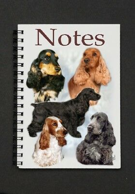 Cocker Spaniel Pack of 4 A6 Dog Notepads Gift Set