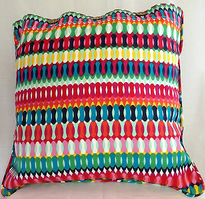 Cushion Cover Multi Colour Cotton Scatter Throw Bright Colours Mexican Aztec