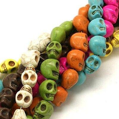 Skull Beads LARGE Skull Beads 18mm Big Turquoise Beads 10pc