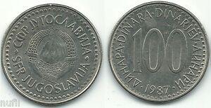 Yugoslavia-100-Dinara-1987-KM-114-29-mm
