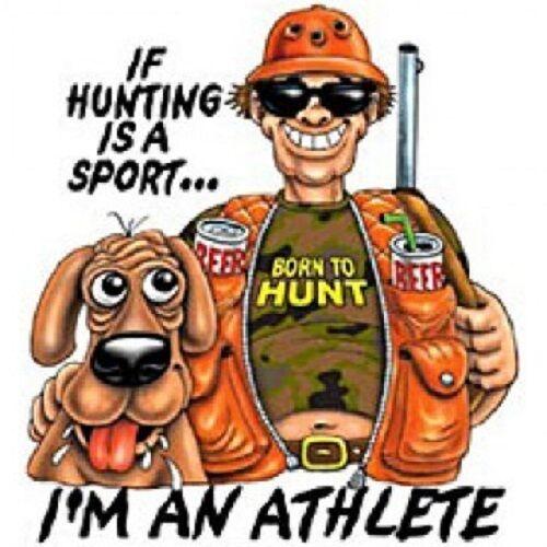 Hunting Athlete HEAT PRESS TRANSFER for Shirt Sweatshirt Tote Quilt Fabric #739g