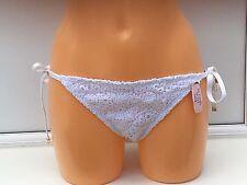 BNWT Women's Victoria's Secret Swim White Crochet Bikini Bottoms. Size: L.