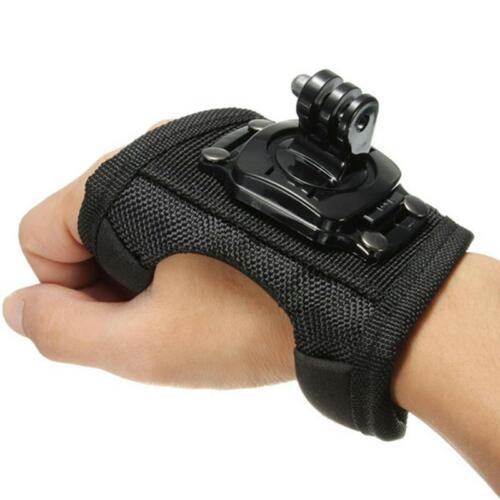 Guante De Cámara Correa de muñeca banda de montaje de mano estilo Gopro nos Cinturón de rotación de 360 grados