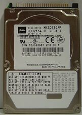 """Toshiba MK2018GAP HDD2164 19 instock 20GB 2.5"""" IDE Drive Tested Good Before Ship"""