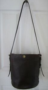 MADEWELL-Brown-Leather-039-Portland-039-Bucket-Shoulder-Bag-Purse-Great-Cond