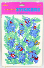 Hallmark Cards Blue Monkeys 1989 Sticker Sheet pack with 4 sheets