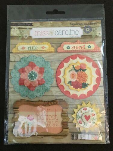 Vintage Christmas /& More My Mind/'s Eye Layered Sticker Miss Caroline