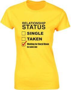 Waiting-For-Daryl-Dixon-To-Save-Me-Ladies-Printed-T-Shirt