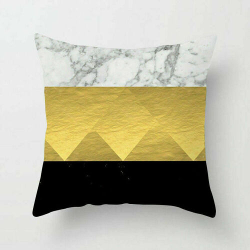Gold Geometry Polyester Pillow Case Sofa Cushion Cover Home Decor Pillows 18inch
