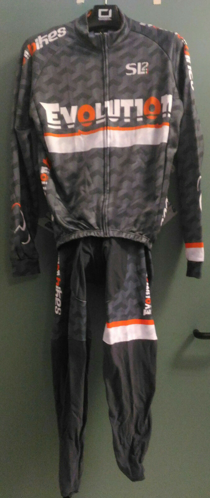 COMPLETE CYCLING WINTRY EVOLUTIONBIKES by GIANNINI colour GREY-WHITE-orange