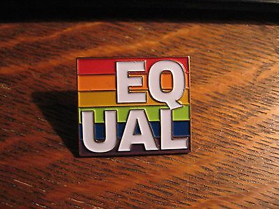 UAL Gay Pride Pin - United Airlines Air Lines EqUAL LGBT LGBTQ Queer Parade Pin