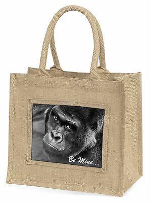 Be Mine! Gorilla Große Natürliche Jute-einkaufstasche Weihnachten , AM-10BLN