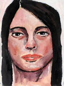 Original-OOAK-Oil-Portrait-Painting-Silent-Woman-Katie-Jeanne-Wood
