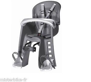 siege v lo avant porte b b baby enfant vtt vtc couleur gris 9 15 kg ebay. Black Bedroom Furniture Sets. Home Design Ideas
