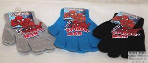 Lot-2-paires-de-Gants-Garcons-Spider-Man-Extensible-3ans-au-10ans-Pierre-cedric