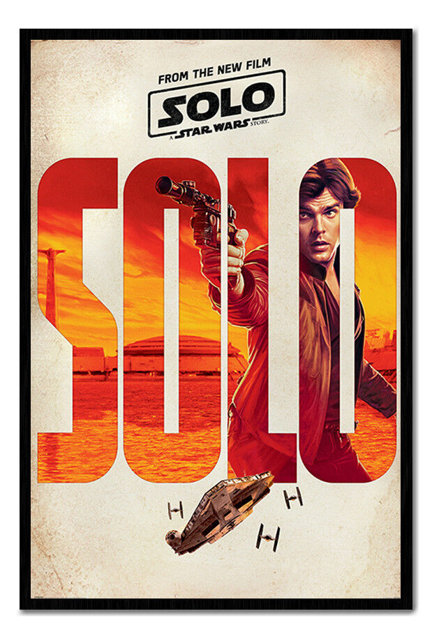 Solo A Star Wars Story Solo Teaser Framed Cork Pin Board With Pins