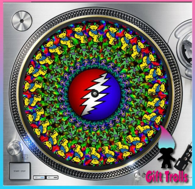 "Acid Bears Grateful Dead Turntable Slipmat - Style#7 - 12"" LP Record Player, DJ"