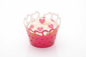 Kitchen-Craft-Pack-12-Decoracion-de-Cupcakes-Envolturas-Corazones