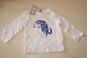 Tee-shirt-blanc-manches-longues-neuf-taille-12-mois-marque-Grain-de-Ble