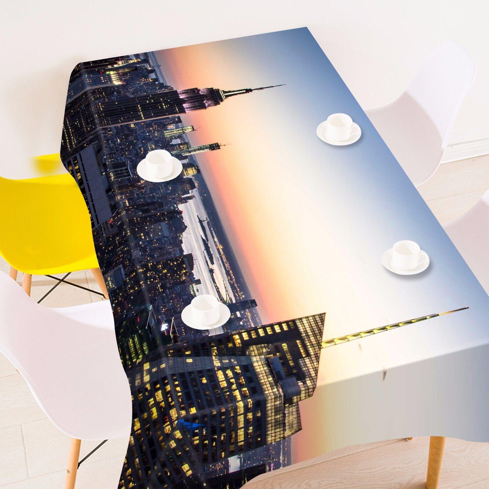 3D Light City Nappe Table Cover Cloth fête d'anniversaire AJ papier peint Royaume-Uni Citron