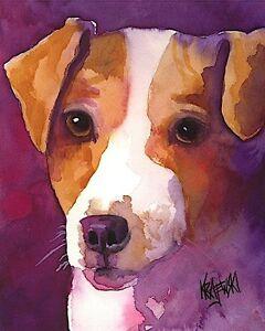 Italian Spinone Art Print Signed by Artist Ron Krajewski Painting 8x10 Dog