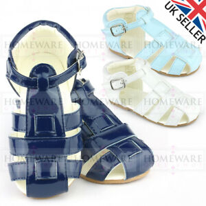 BABY BOYS SANDALS PATENT SPANISH STYLE