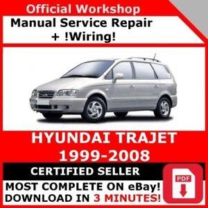 Fine Factory Workshop Service Repair Manual Hyundai Trajet 1999 2008 Wiring Digital Resources Funapmognl