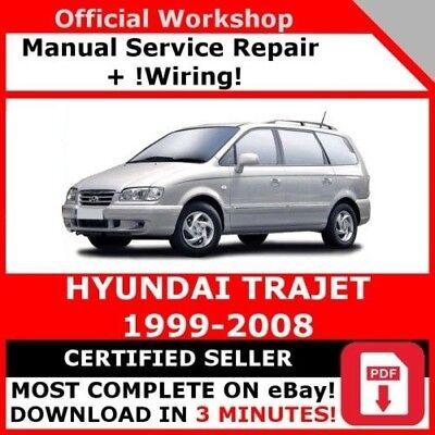 details about # factory workshop service repair manual hyundai trajet  1999-2008 +wiring