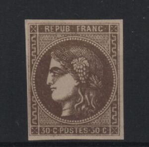 FRANCE-YVERT-47-SCOTT-46-034-BORDEAUX-ISSUE-30c-BROWN-034-MH-VF-SIGNED-CALVES-T929