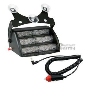 White-18-LED-Strobe-Police-Emergency-Flashing-Warning-Light-for-Car