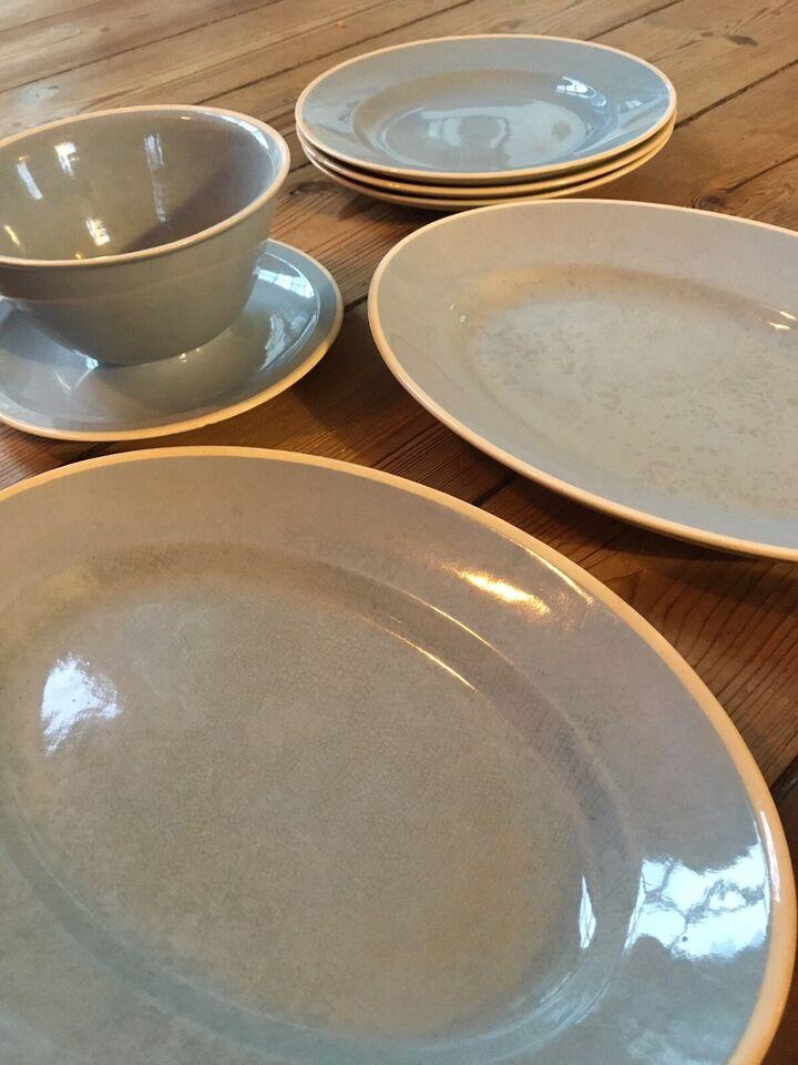 Porcelæn, Tallerken fad asiet sovseskål , Sonja Aluminia