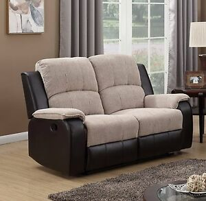 Image Is Loading Beige Brown High Quality Fabric Manual 2 Seater