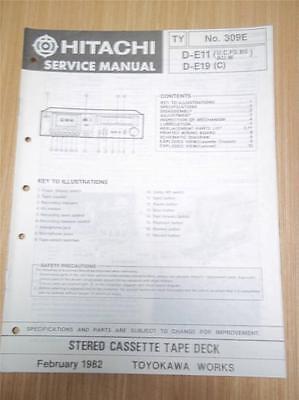Hitachi Service Manual~D-2335U Cassette Tape Deck//Player~Original Manual