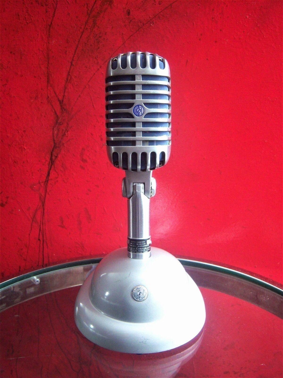 Vintage Raro 1959 Dukane Dukane Dukane 7A65 micrófono dinámico SHURE Brojohers 55 S W Stand  40% de descuento