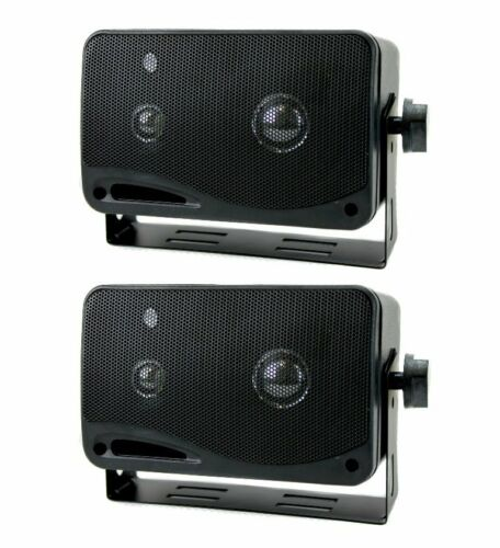 "New PYRAMID 2022SX 3.75/"" 200W 3-Way Car Audio Mini Box Car//Inside Home Speakers"