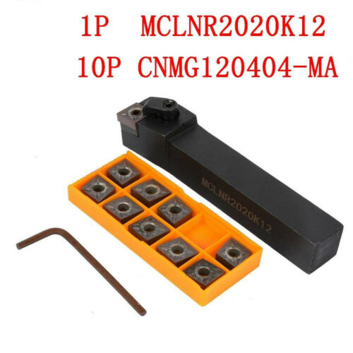 20mm*125mm lathe holder+CNMG120404-MA CNMR431 carbide insert 10P 1P MCLNR2020K12