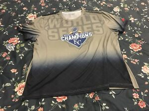 more photos 4fb85 0a24d Details about RARE Kansas City Royals World Series Champions Shirt Sz L  Men's MLB