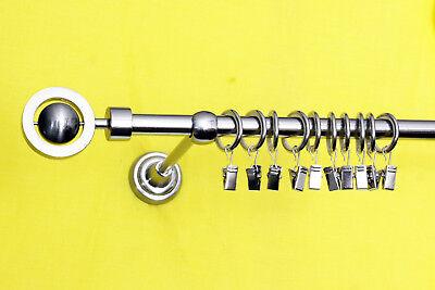 Gardinenstangen doppelläufig 16mm und 20mm mit Endkappen Technikkugel und Ringen